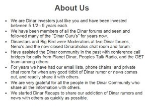dinar recaps blog