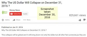 collapse of dollar