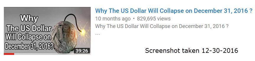 dollar collapse youtube video