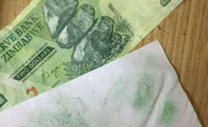zimbabwe bond notes ink bleed